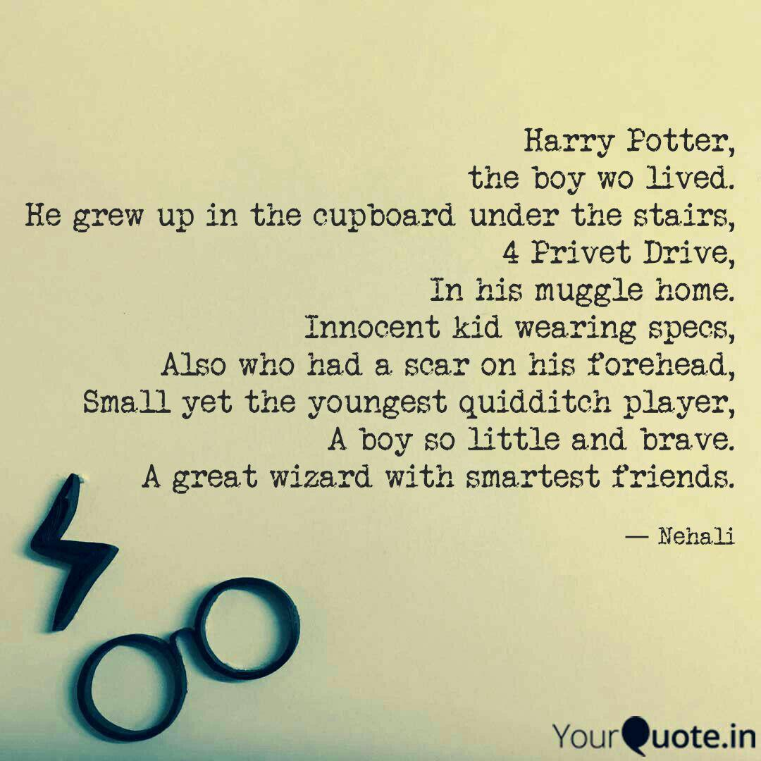 harry potter the boy wo quotes writings by nehali more