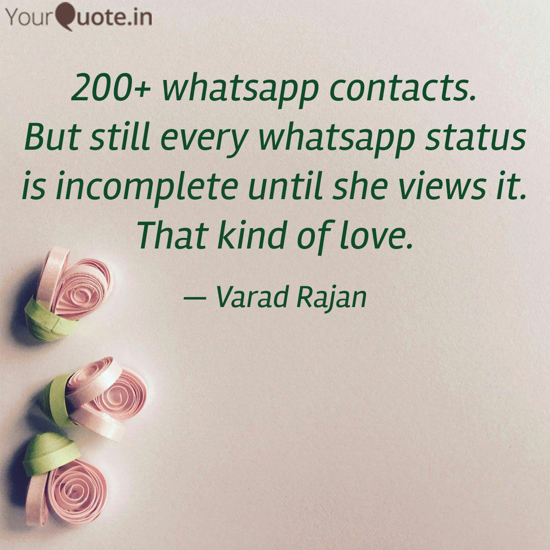 200 Whatsapp Contacts B Quotes Writings By Varad