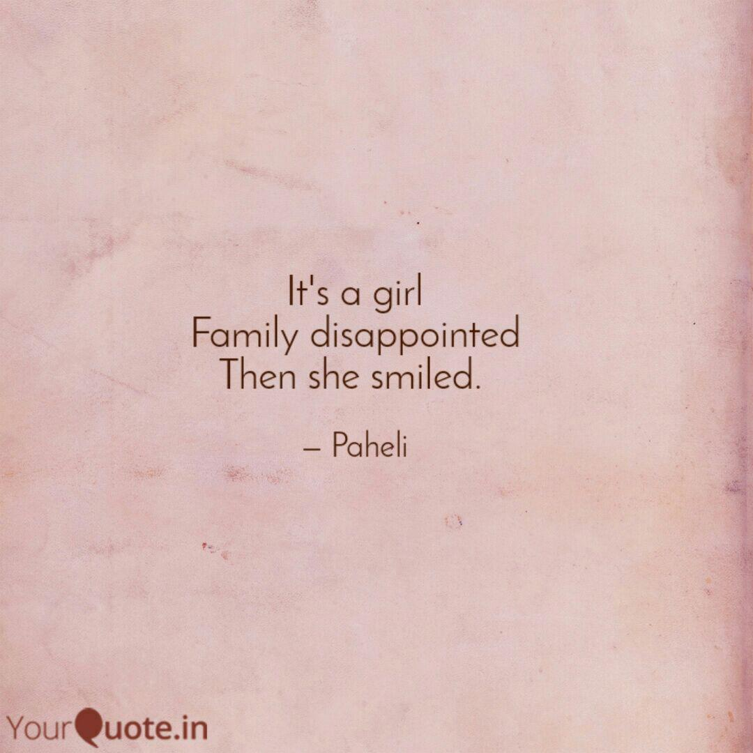 it s a girl family disapp quotes writings by megha agarwal