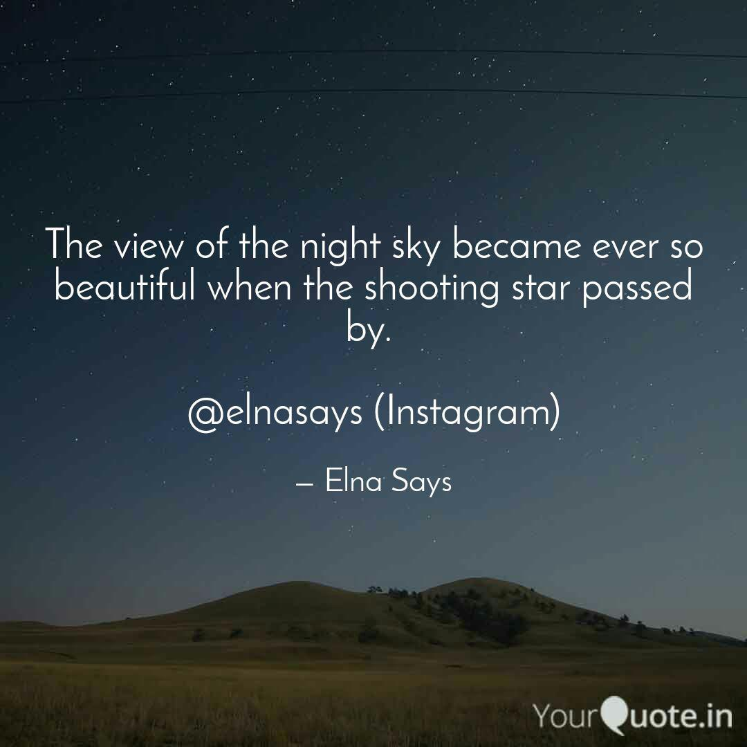 the view of the night sky quotes writings by elna says