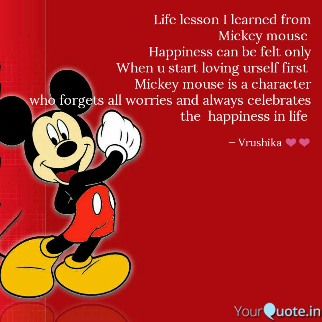 Best mickeymouse Quotes, Status, Shayari, Poetry & Thoughts ...