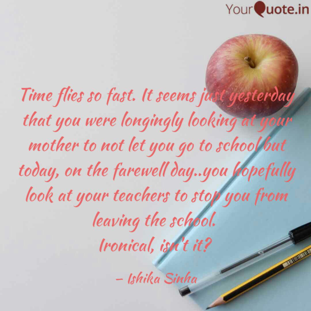 time flies so fast it se quotes writings by ishika sinha