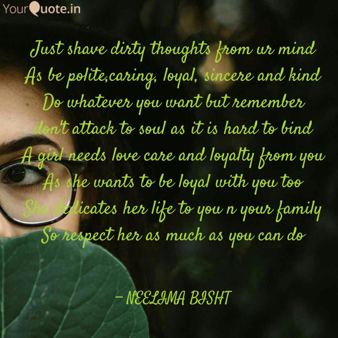 Just shave dirty thoughts...   Quotes & Writings by Neelima ...