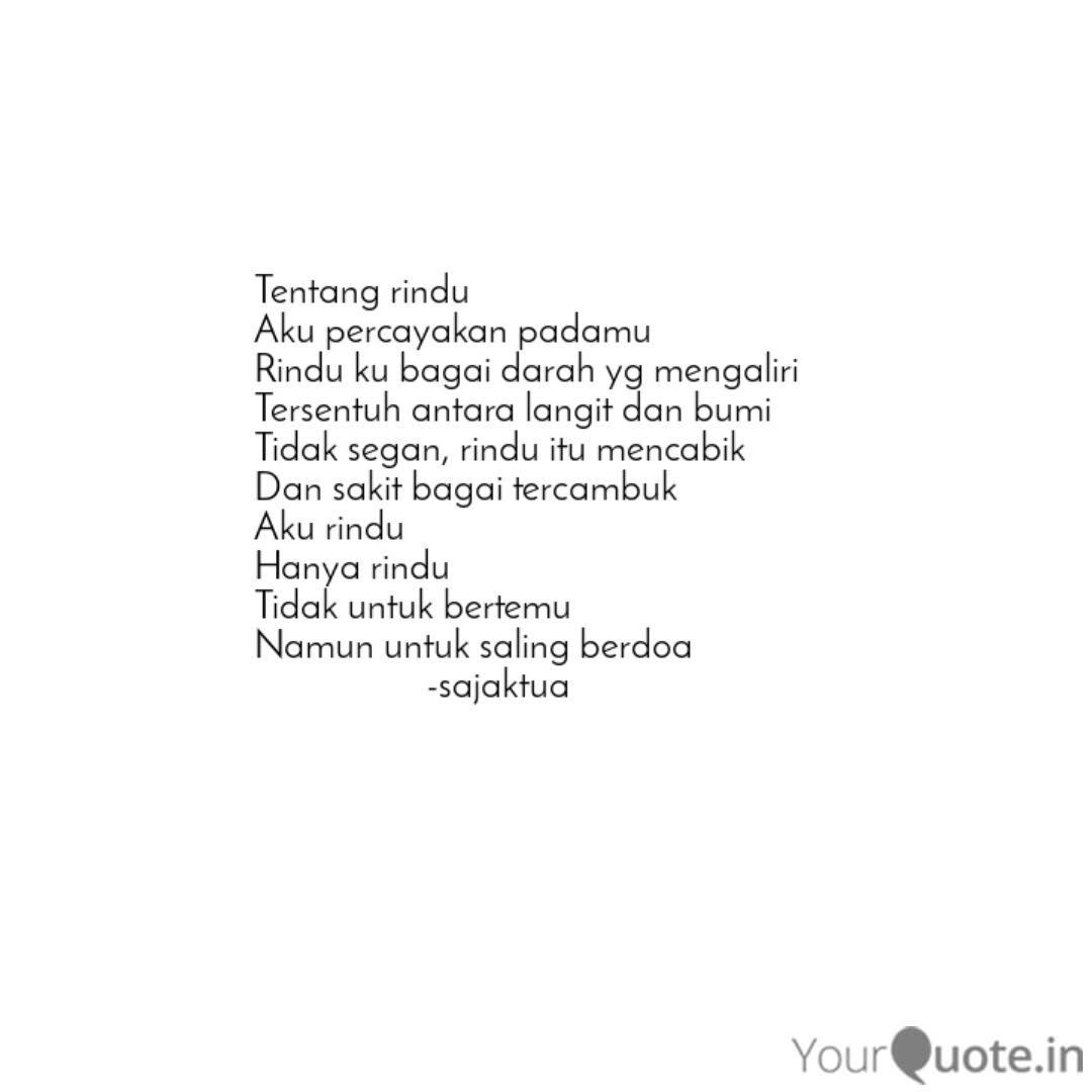 tentang rindu aku percaya quotes writings by zarra zettira
