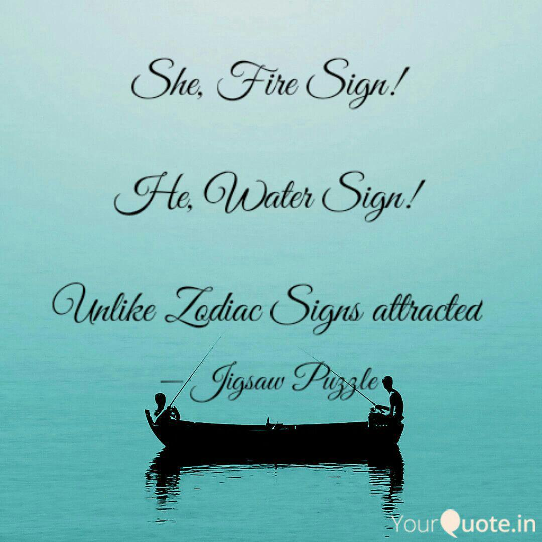 She, Fire Sign! He, Wate    | Quotes & Writings by Jigisha