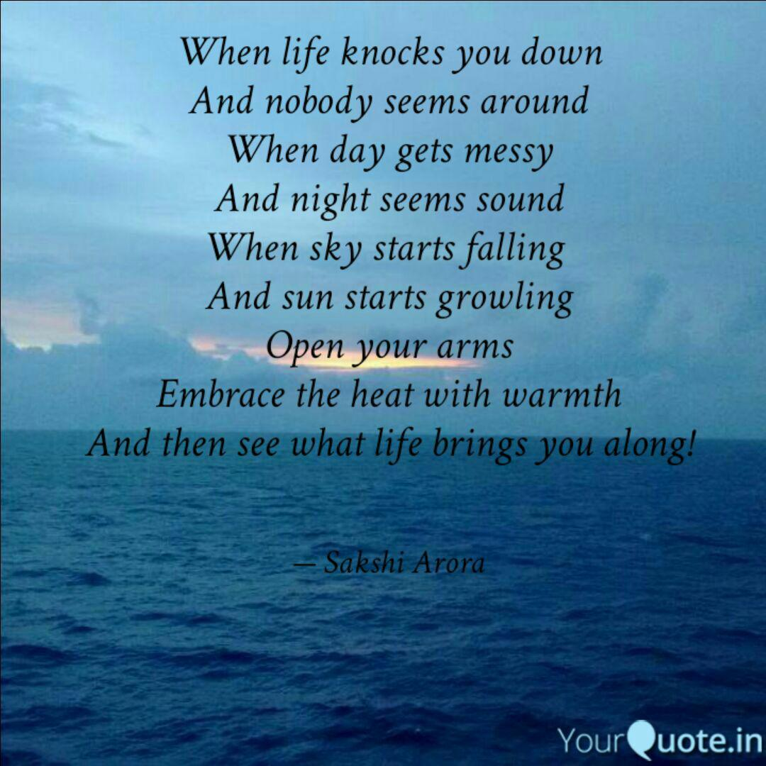 When life knocks you down... | Quotes & Writings by Sakshi ...