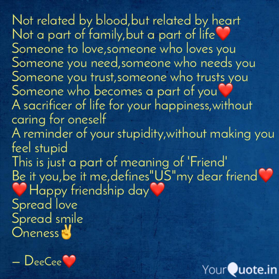 Not related by blood,but ... | Quotes & Writings by DeePak ...