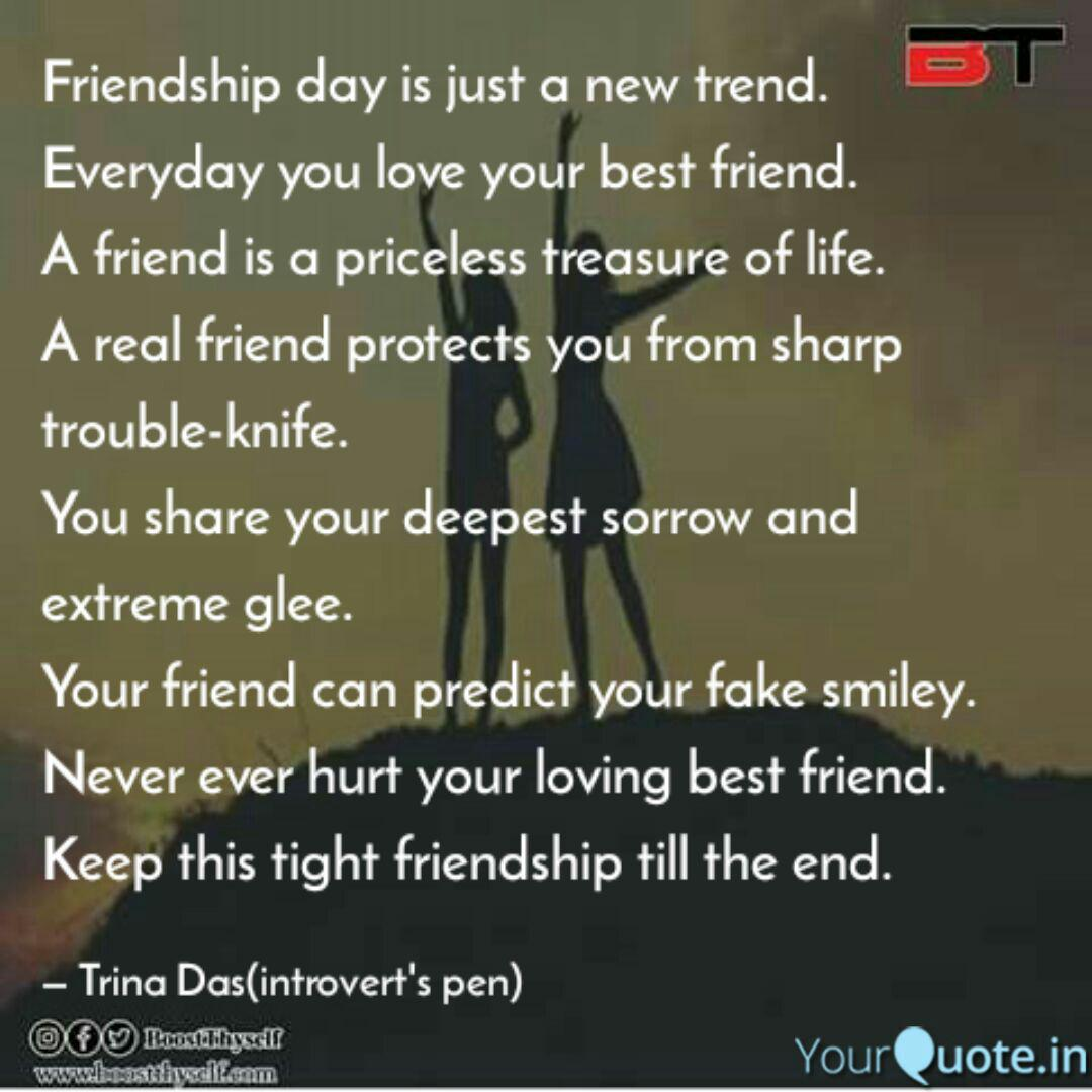 friendship day is just a quotes writings by trina das