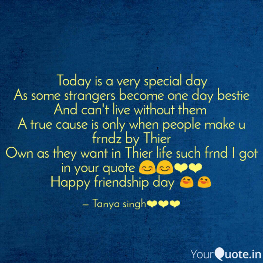 Today is a very special d  Quotes & Writings by TANYA SINGH