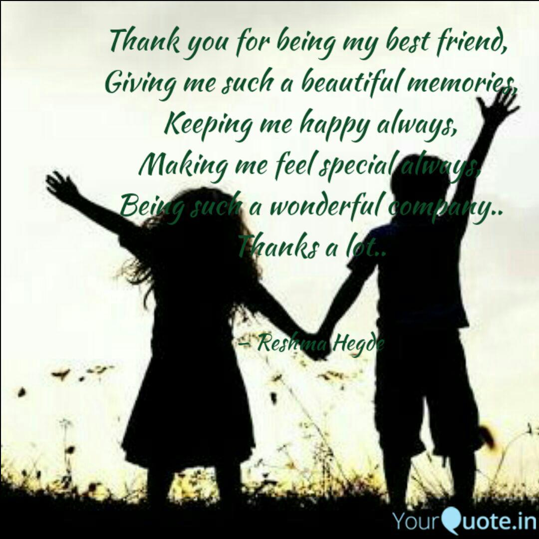 Thank You For Being My Be Quotes Writings By Reshma Hegde