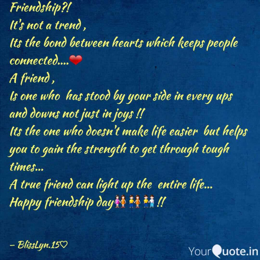 Friendship It S Not A T Quotes Writings By Danzia Maededeus Yourquote