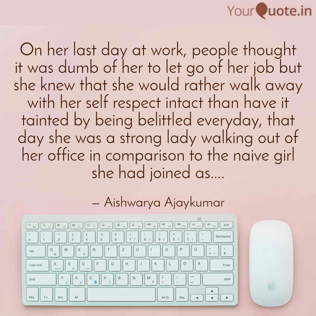on her last day at work quotes writings by aishwarya