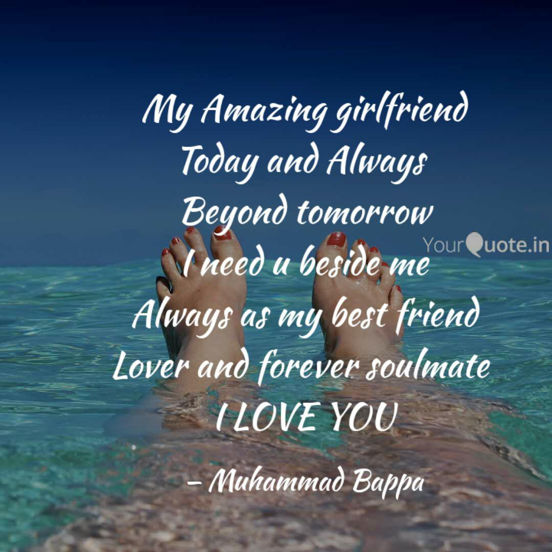 My Amazing girlfriend Tod  Quotes & Writings by Muhammad Bappa
