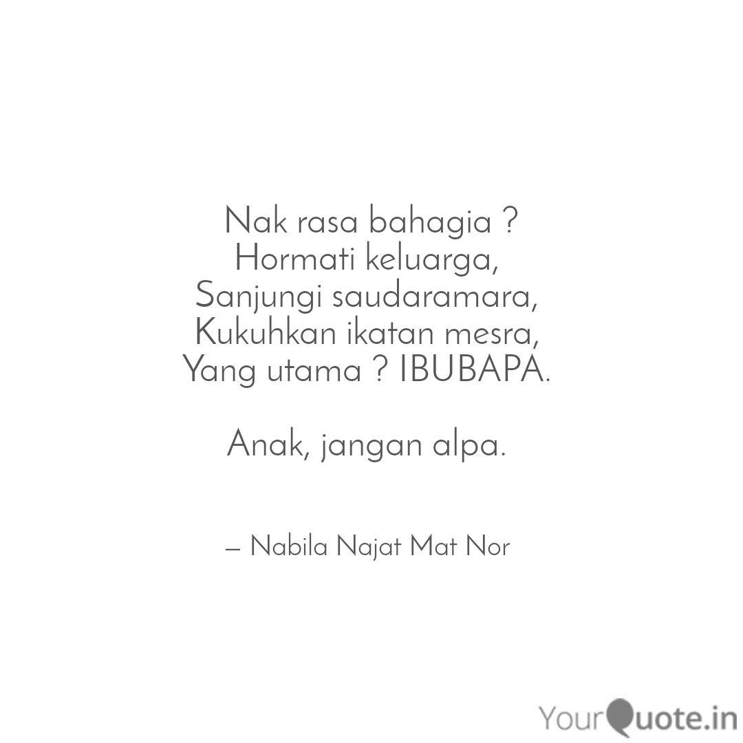 nak rasa bahagia horma quotes writings by nabila najat