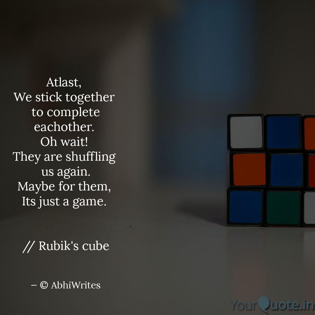 Best Rubik Quotes Status Shayari Poetry Thoughts