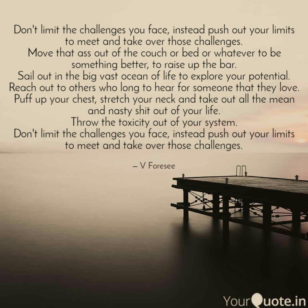 don t limit the challenge quotes writings by v foresee god