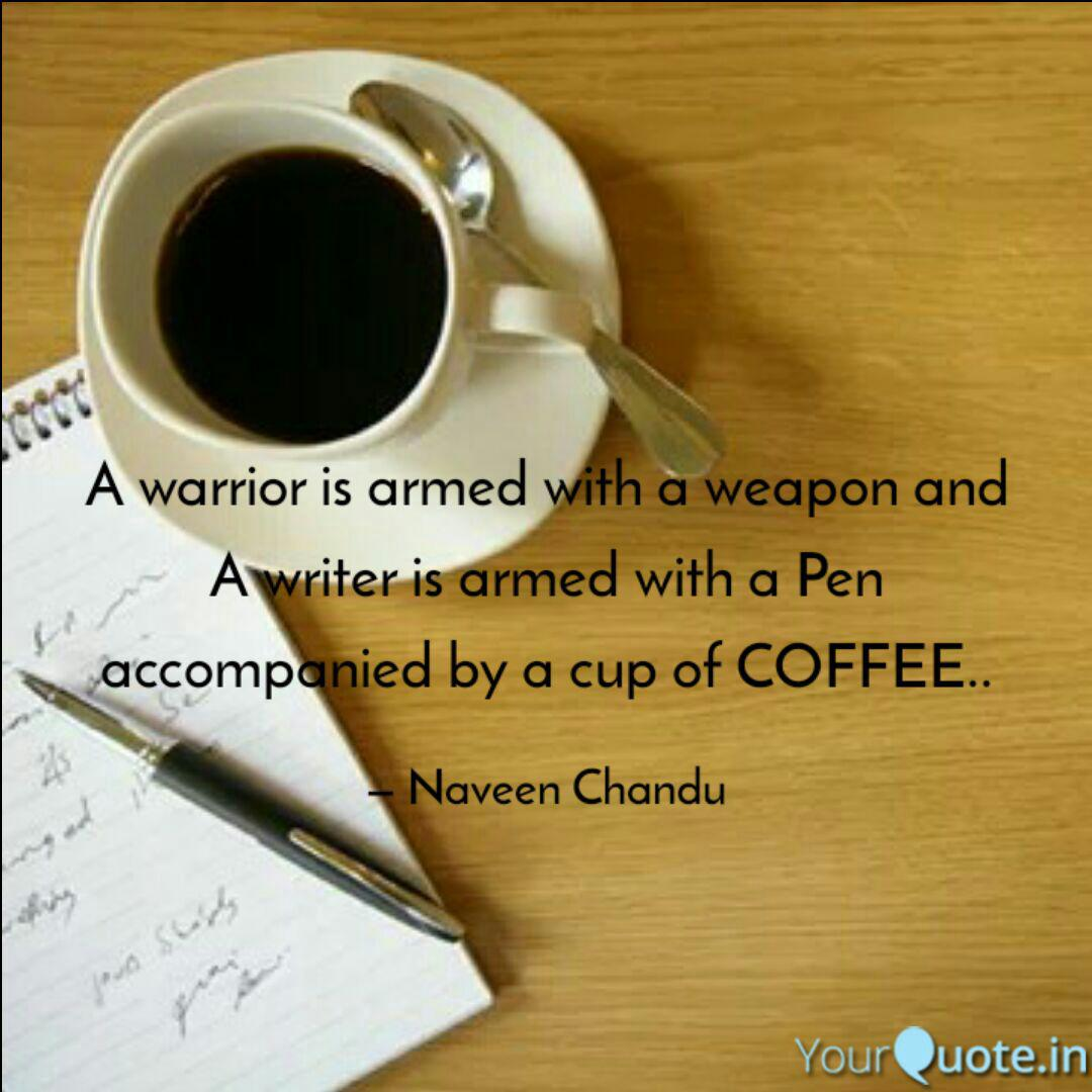 a warrior is armed a quotes writings by naveen chandu