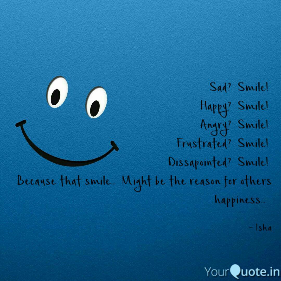 sad smile happy smi quotes writings by isha sharma