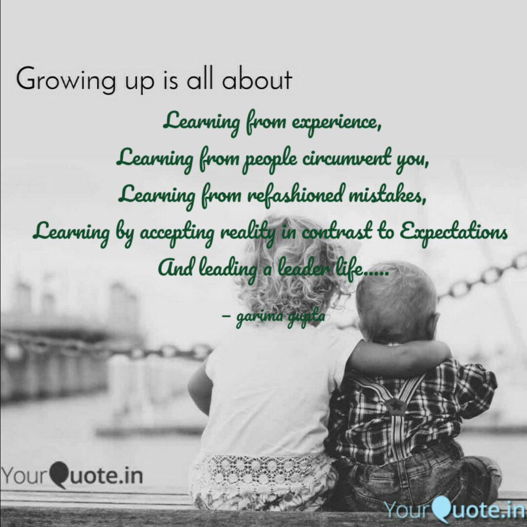 learning from experience quotes writings by garima gupta