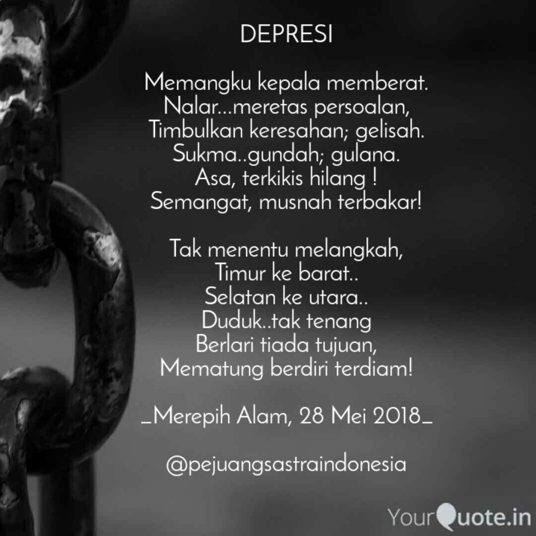 depresi memangku kepala quotes writings by fitri