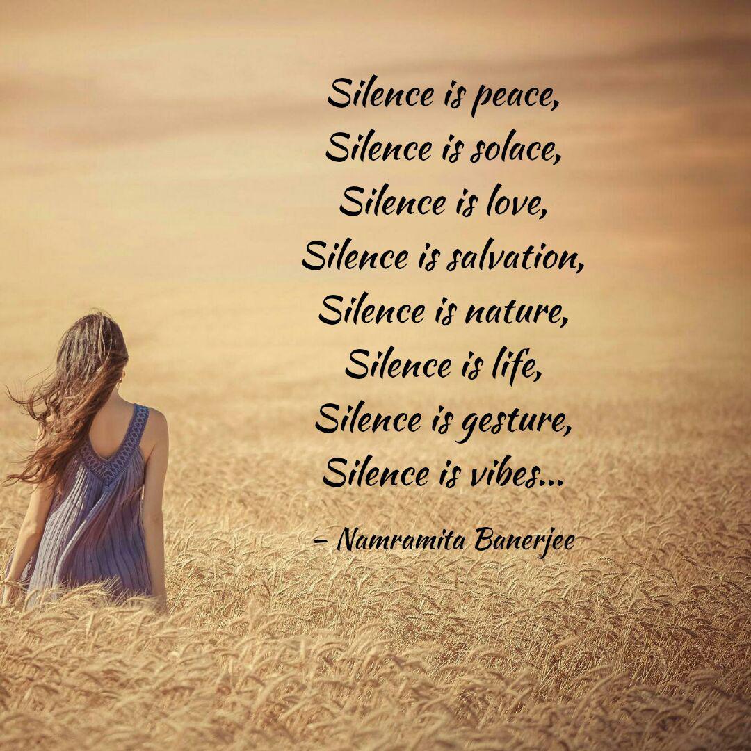 silence is peace silence quotes writings by namramita