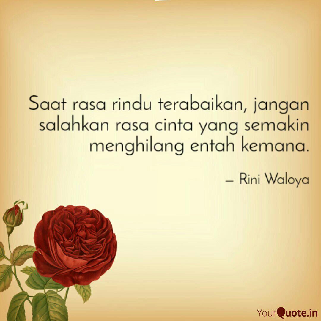 saat rasa rindu terabaika quotes writings by rini waloya