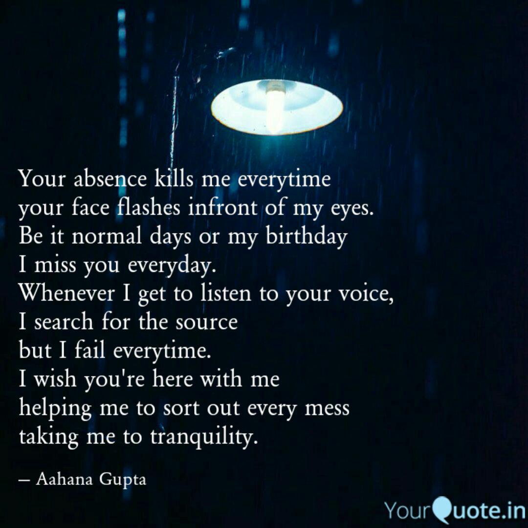 Is killing absence me quotes your Killing quotes