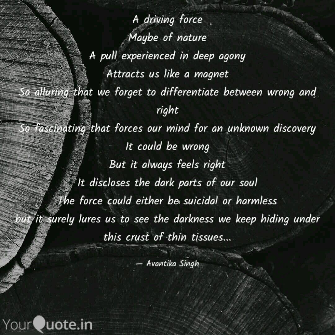 a driving force be of quotes writings by avantika singh