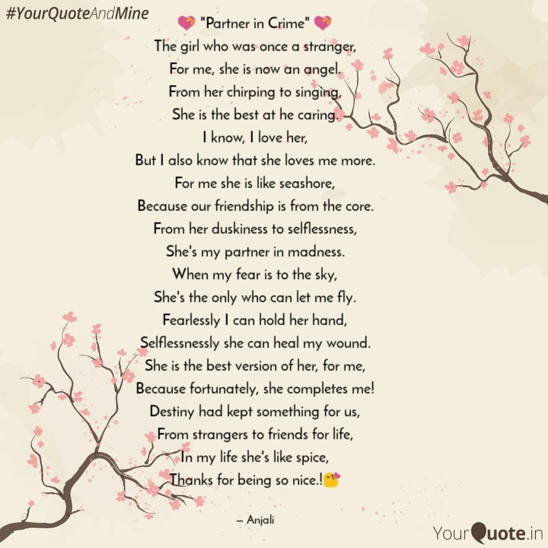 Partner In Crime Quotes Writings By Anjali