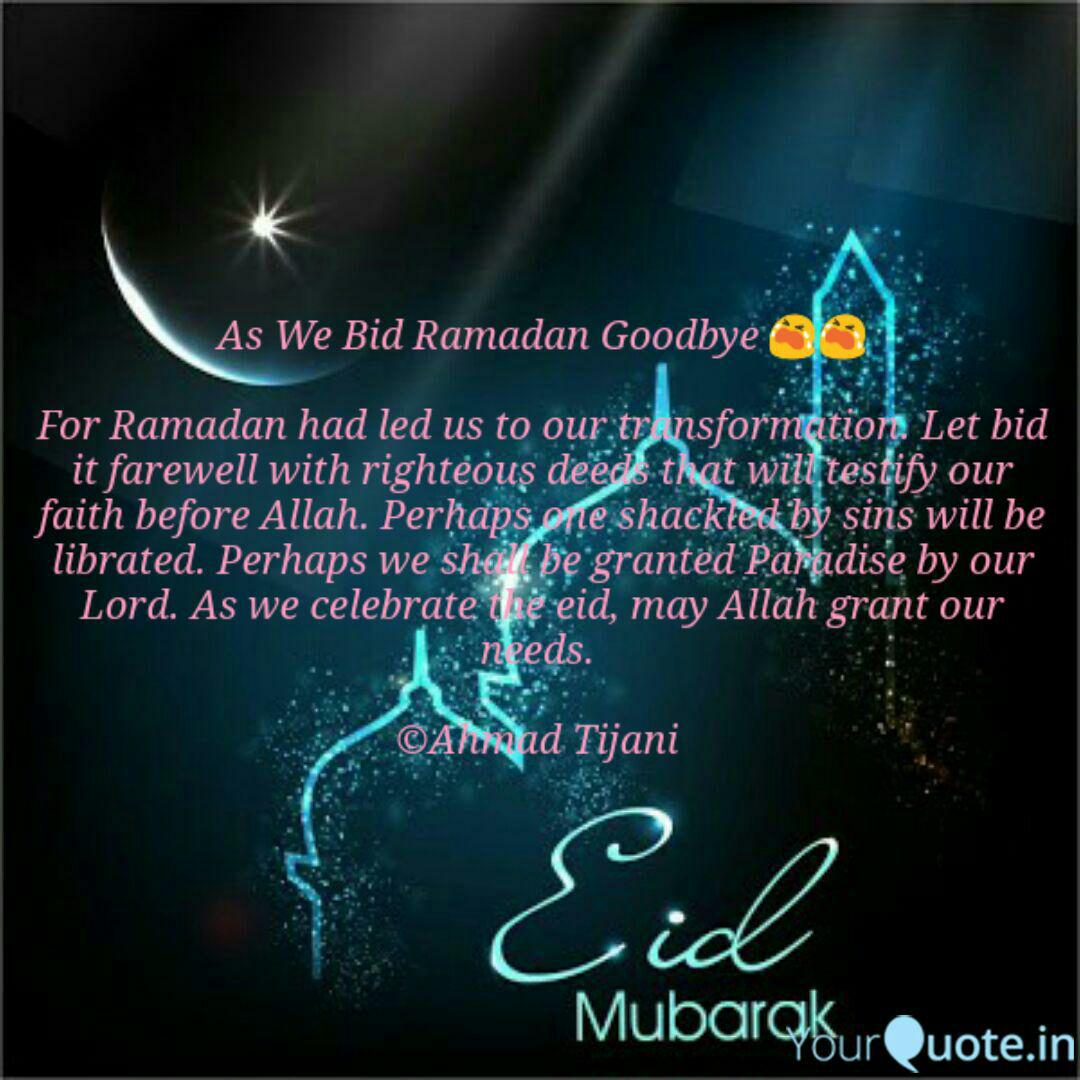 as we bid ramadan goodbye quotes writings by tijani opeyemi