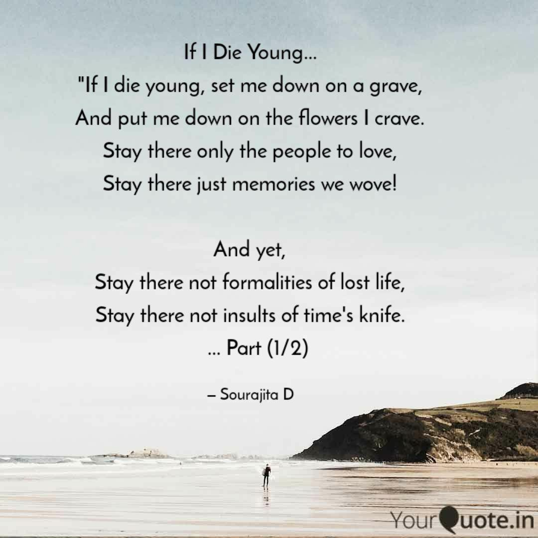 Quote About Dying Young Love Quotes