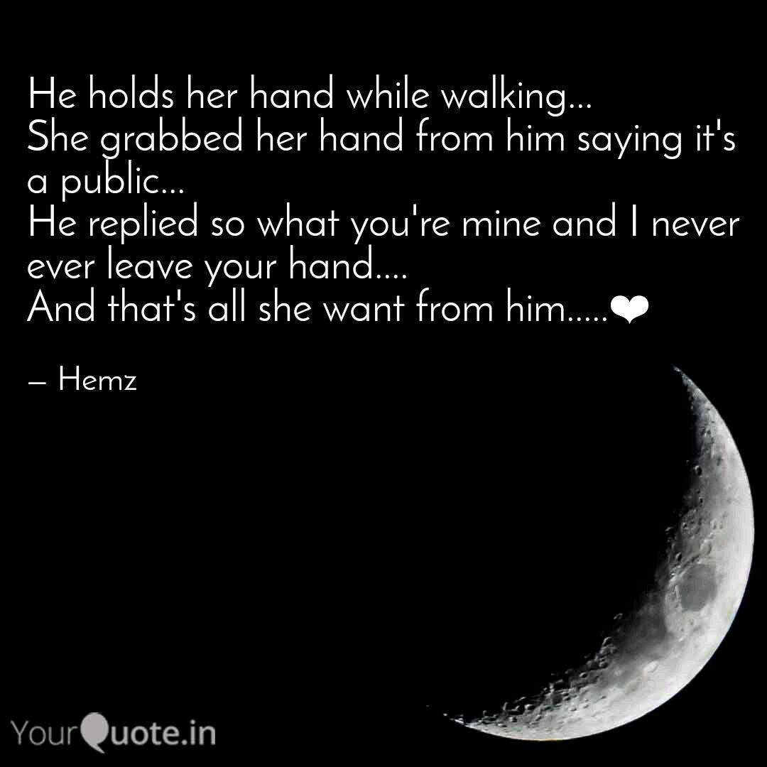 When a man holds your hand