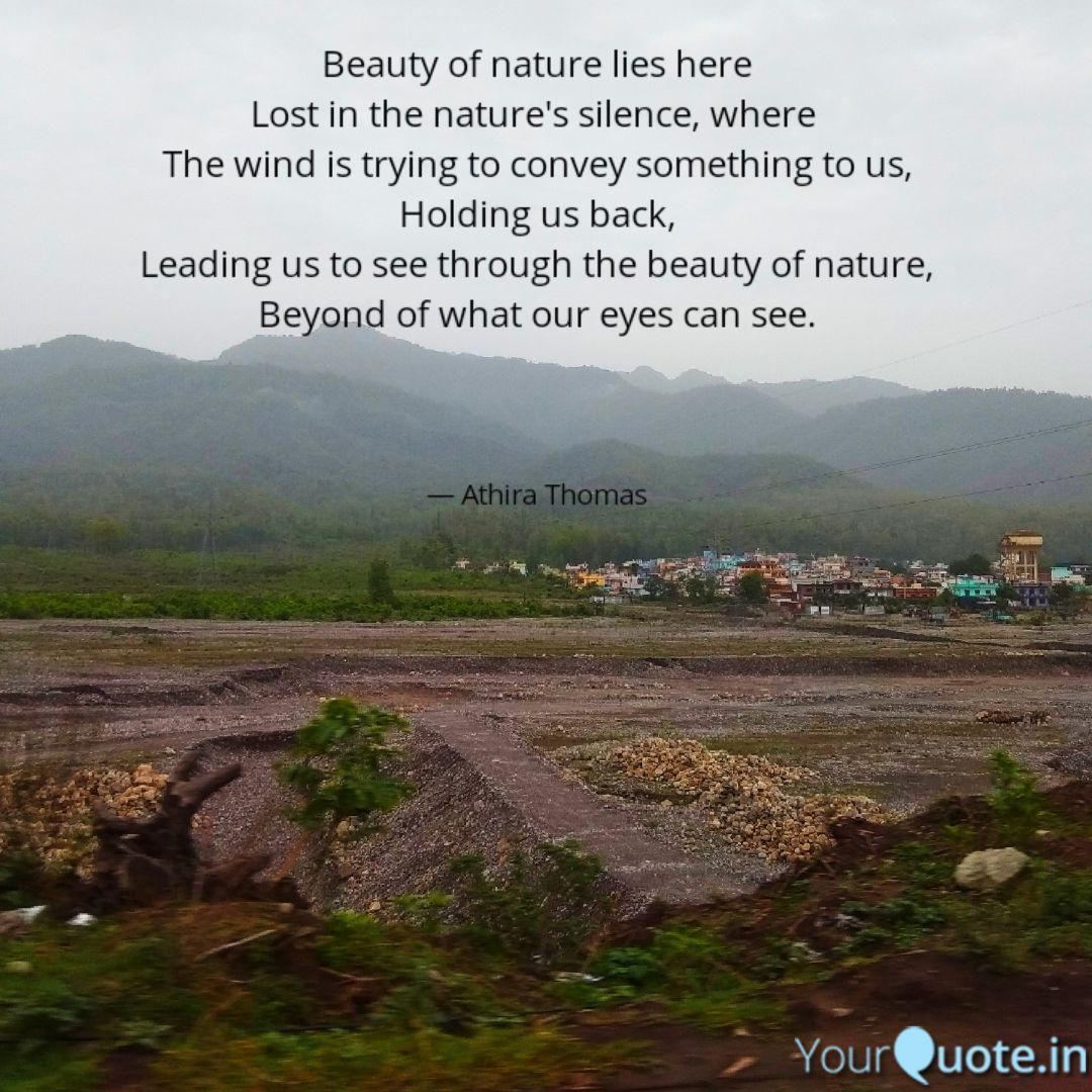 beauty of nature lies her quotes writings by athira thomas