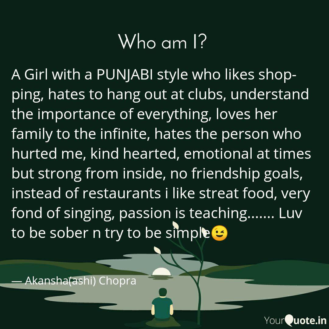 a girl a punjabi sty quotes writings by akansha ashi