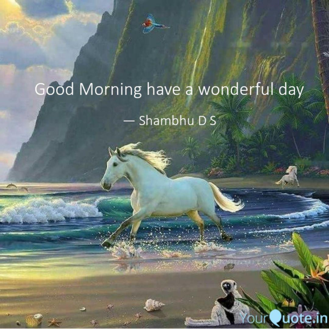 Good Morning Have A Wonde Quotes Writings By Shambhu D S Yourquote