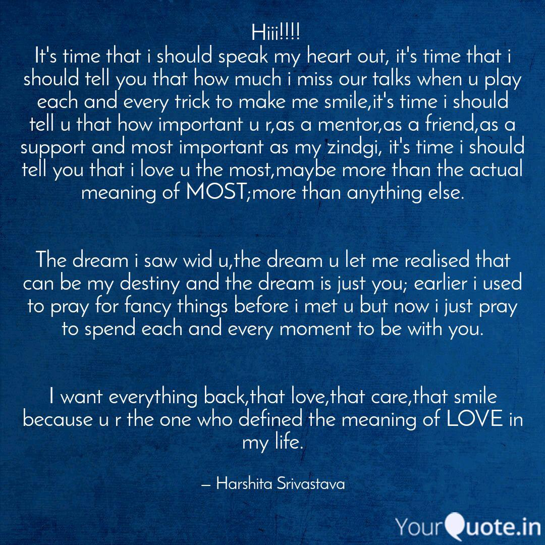 Hiii!!!! It's time that     | Quotes & Writings by Harshita