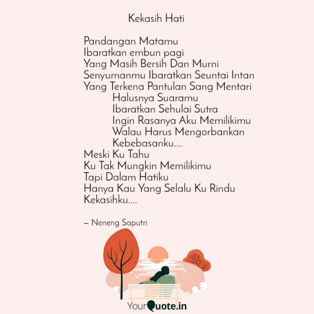 kekasih quotes writings by neneng saputri s tr keb
