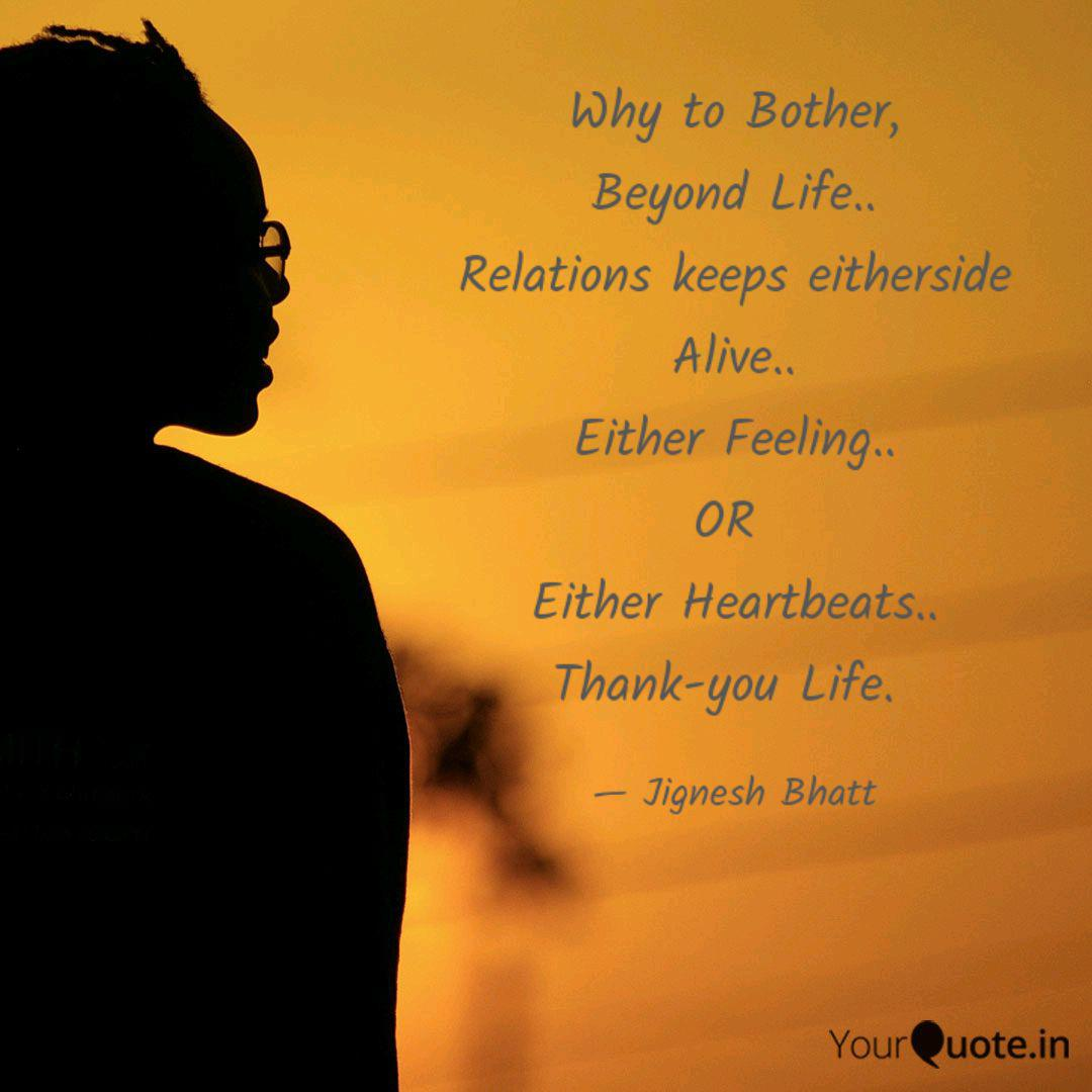 Why to Bother, Beyond Lif...   Quotes & Writings by Jignesh ...