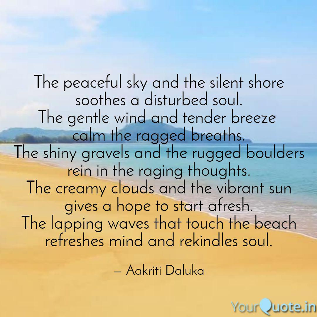 the peaceful sky and the quotes writings by aakriti daluka