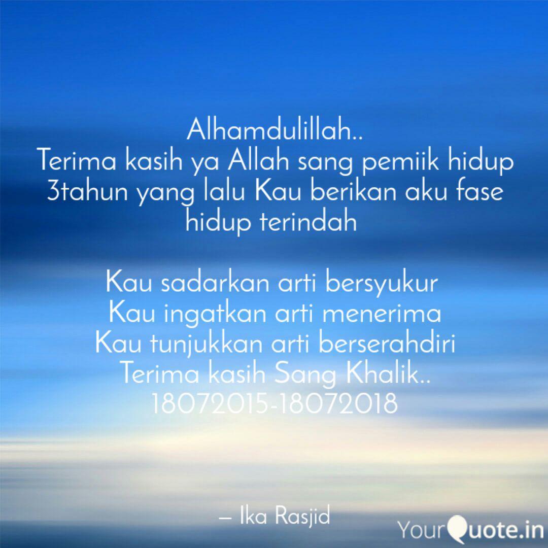 alhamdulillah terima ka quotes writings by ika rasjid