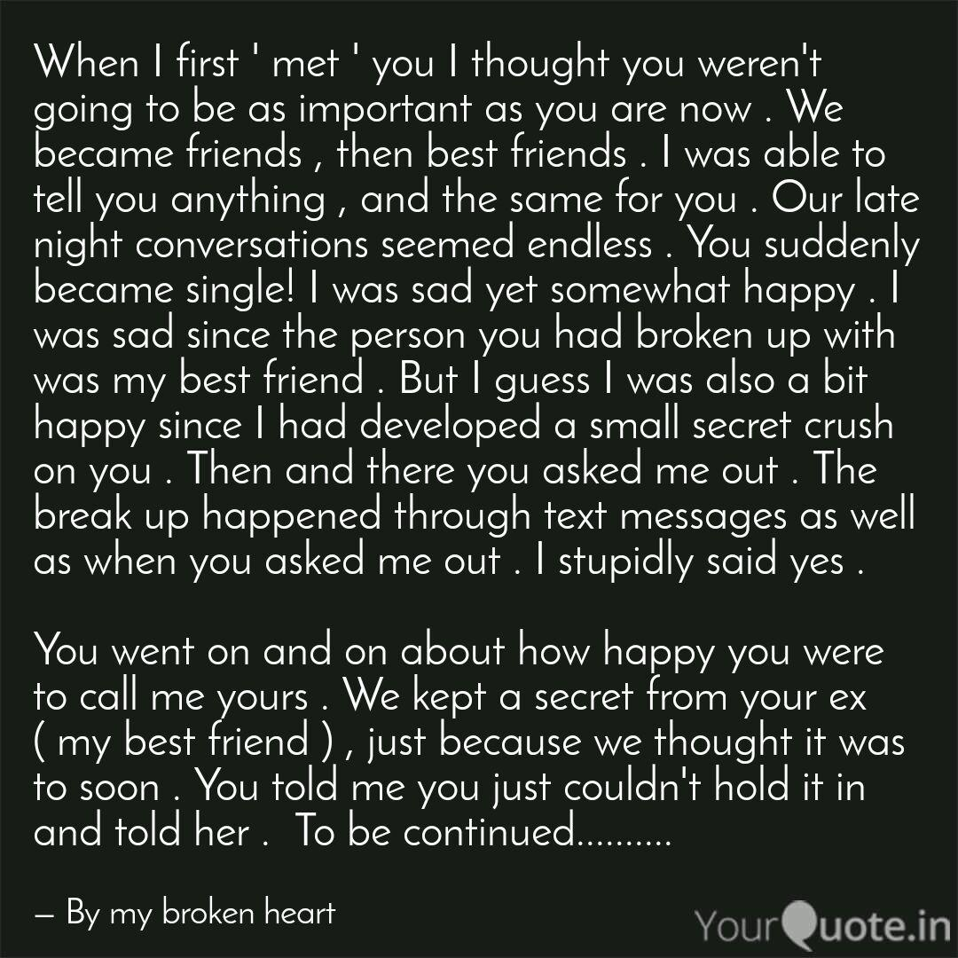 When I first \' met \' you ... | Quotes & Writings by Gourav ...
