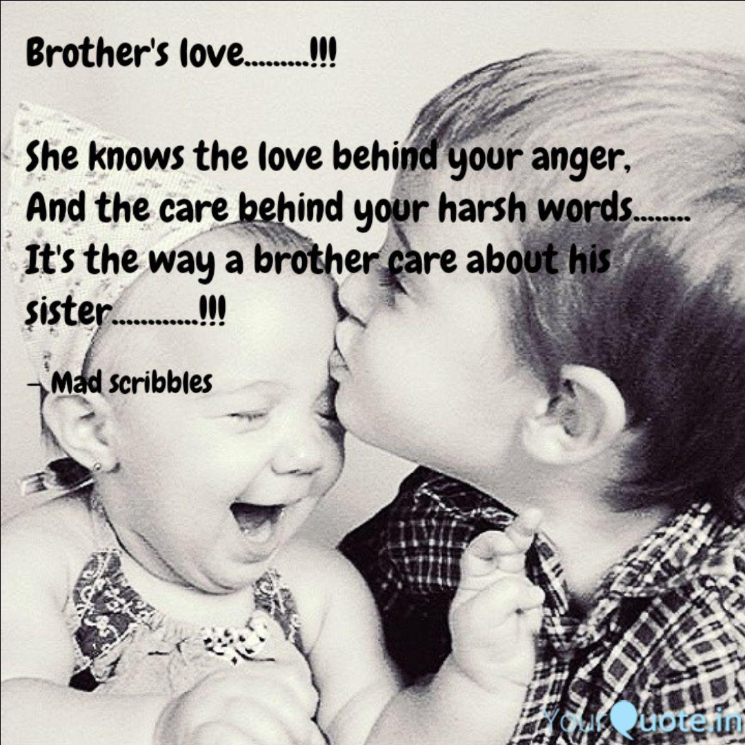 Brother\'s love.........!!... | Quotes & Writings by Anusha ...
