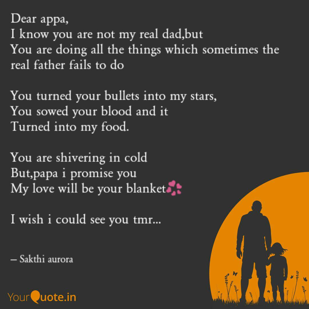 Dear appa, I know you are... | Quotes & Writings by adhuri ...