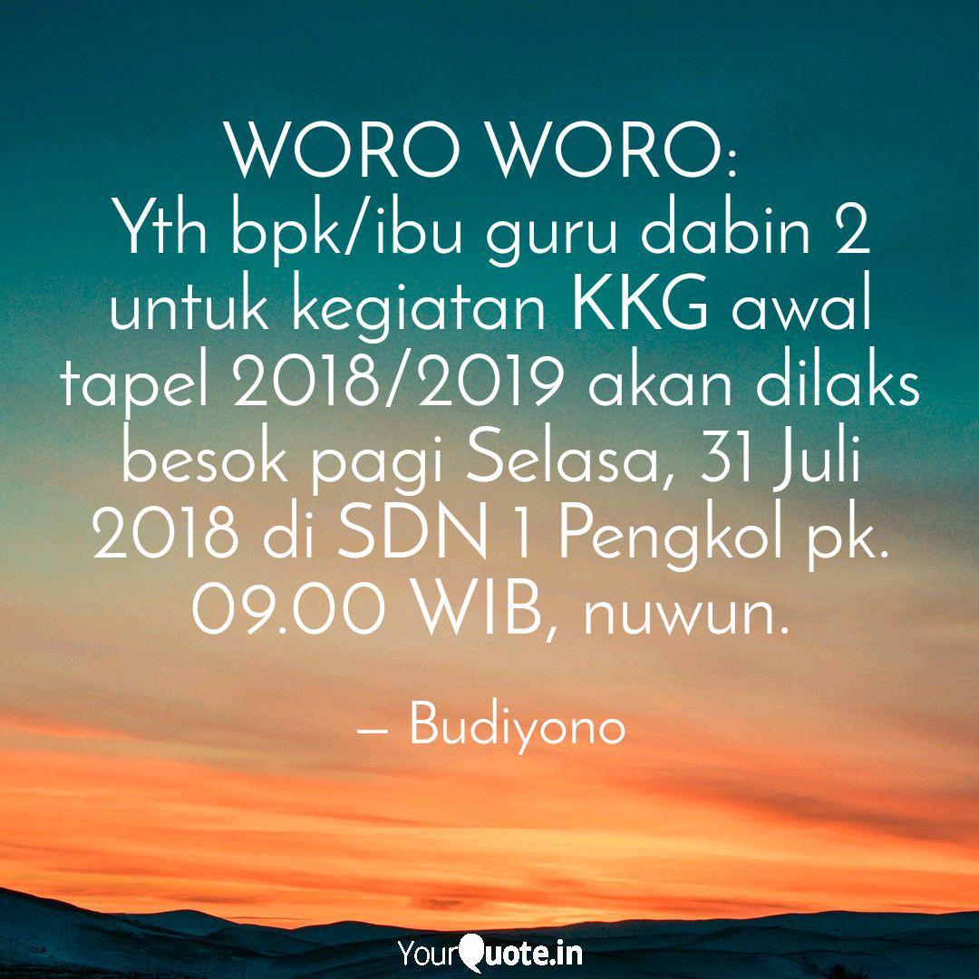 woro woro yth bpk ibu g quotes writings by budiyono
