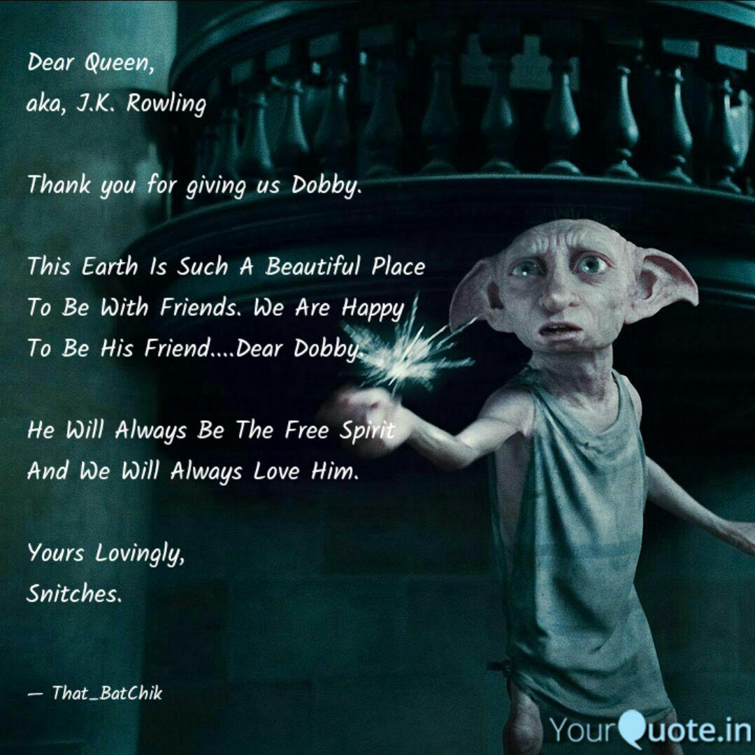 dobby is a free elf quote