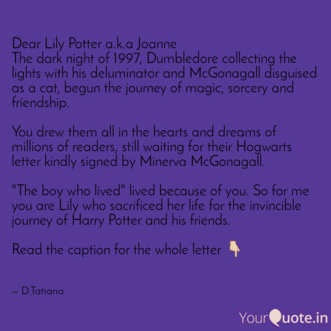 dear lily potter a k a jo quotes writings by ikkgumkudi