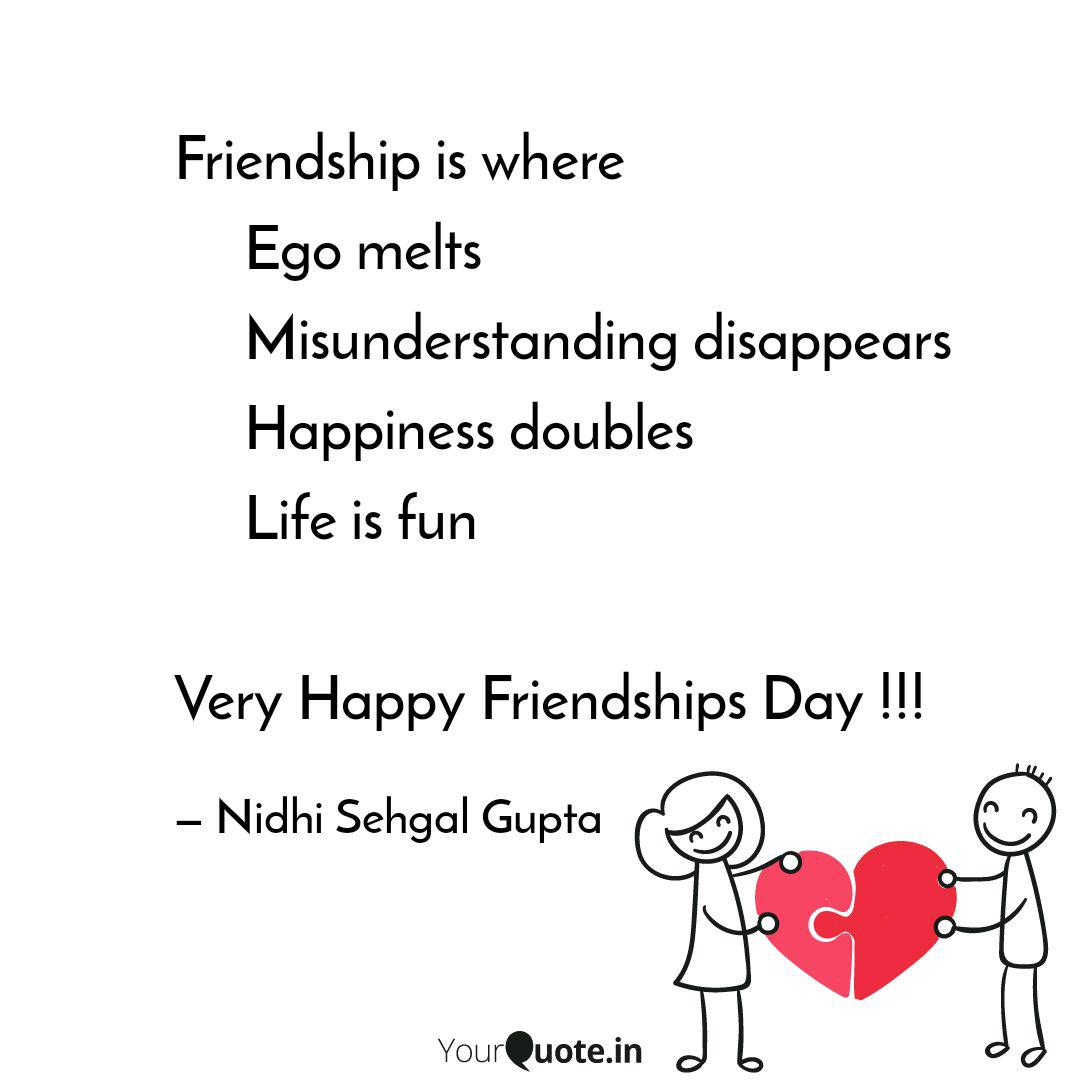 friendship is where quotes writings by nidhi sehgal gupta
