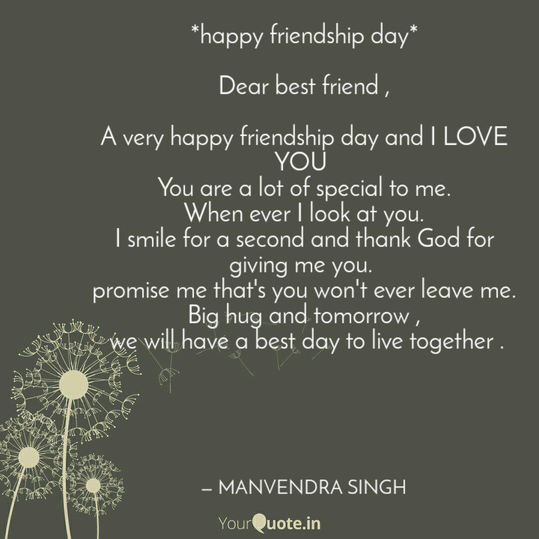 Happy Friendship Day D Quotes Writings By Manvendra Singh Yourquote
