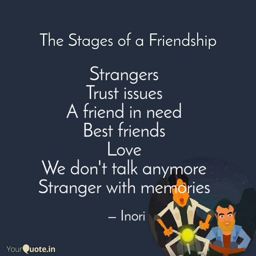 Strangers Trust issues ...   Quotes & Writings by Suchismita ...
