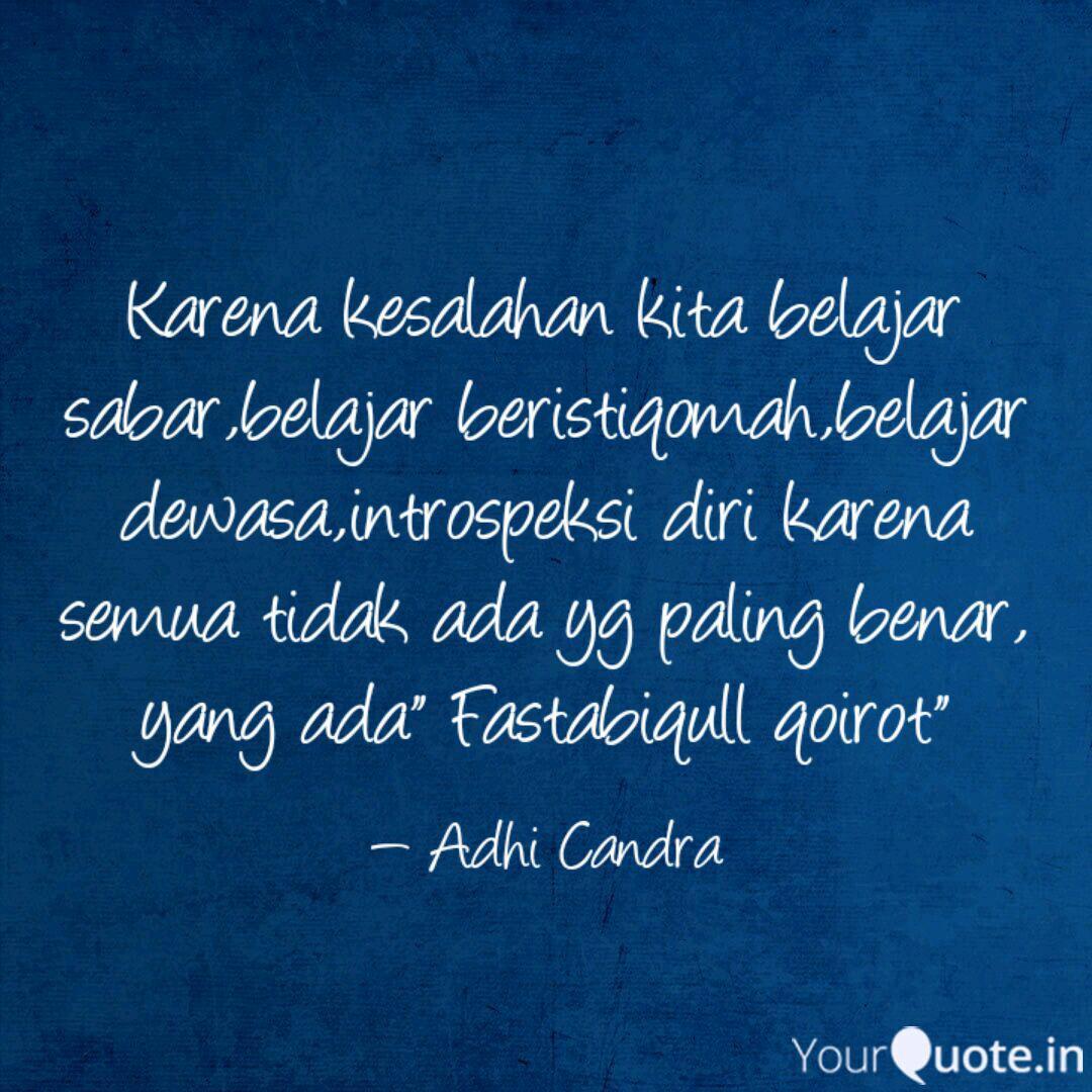 Karena Kesalahan Kita Bel Quotes Writings By Adhi